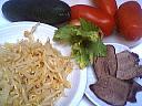 Ingrédients pour la recette : Langue en salade