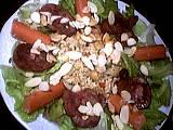 Saucisse de strasbourg : Assiette de salade tiède de rognon