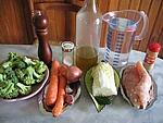 Ingrédients pour la recette : Soupe aux coeurs d'amour