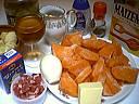 Ingrédients pour la recette : Sauté de potiron et artichauts
