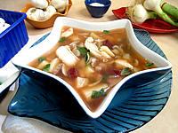 Image : recette Soupe de morue aux champignons
