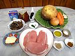 Ingrédients pour la recette : Sauté de porc à la crème et au vin rouge