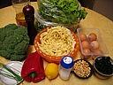 Ingrédients pour la recette : Salade de pâtes aux brocolis