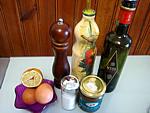 Ingrédients pour la recette : Vinaigrette aux oeufs