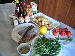 Ingrédients pour la recette : Salade de langoustes aux pommes de terre