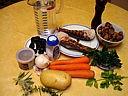 Ingrédients pour la recette : Soupe de queues de langoustes