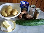 Ingrédients pour la recette : Purée de topinambours et saucisses