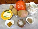 Ingrédients pour la recette : Purée de potimarron et pommes de terre
