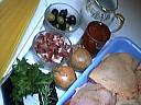 Ingrédients pour la recette : Poulet sauté aux olives