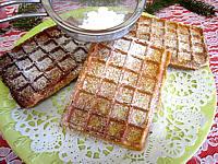 Image : assiette de gaufres aux noisettes
