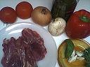Ingrédients pour la recette : Escalopes de dinde aux poivrons