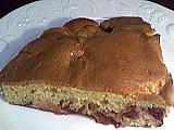 Recette Part de gâteau aux prunes