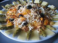 Recette Plat de salade de soja aux abricots
