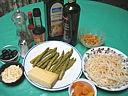 Ingrédients pour la recette : Salade de soja aux abricots