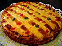 Gâteau fromage blanc et fruits confits