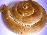 Escargot réalisé en pâte à pain