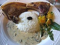 Côtes d'agneau sauce à l'oseille
