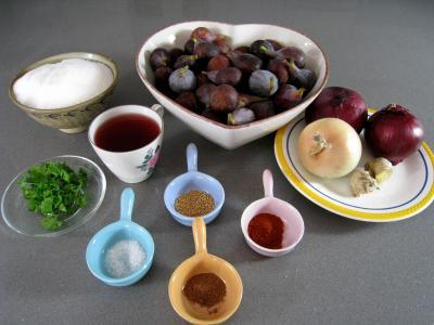 Ingrédients pour la recette : Chutney de figues aux épices