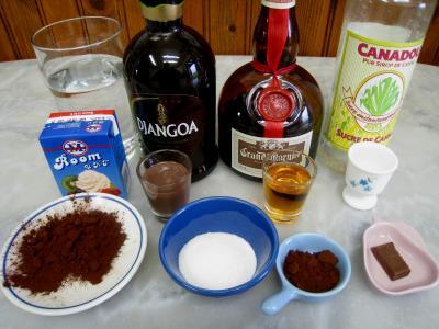 Ingrédients pour la recette : Cocktail au chocolat et au caramel