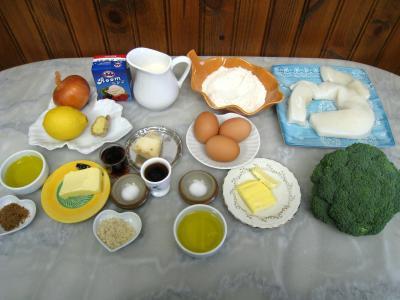 Ingrédients pour la recette : Coupelles de crêpes farcies aux encornets