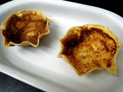 Coupelles de crêpes farcies aux encornets - 22.2
