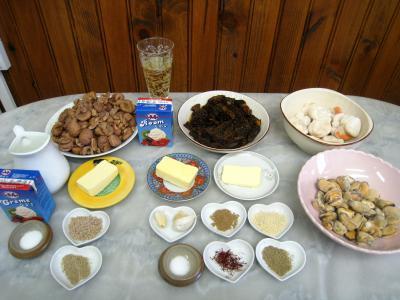 Ingrédients pour la recette : Noix de Saint-Jacques aux morilles et à la purée de marrons