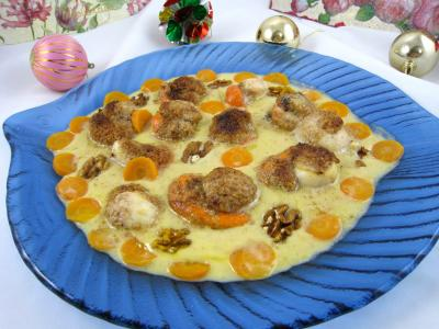 cidre doux : Plat de noix de Saint-Jacques au cidre et aux noix