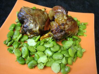 Souris d'agneau aux fèves et au parmesan - 10.2
