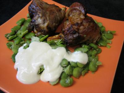 Souris d'agneau aux fèves et au parmesan - 10.4