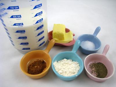 Ingrédients pour la recette : Sauce béchamel