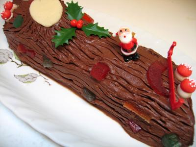 gâteau roulé : Bûche au chocolat de Noël
