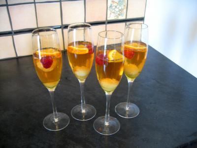 Recette Verres de cocktail au champagne