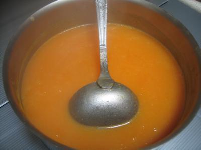Velouté de carottes au foie gras et son oeuf mollet - 9.3