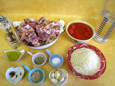 Ingrédients pour la recette : Agneau façon Turque
