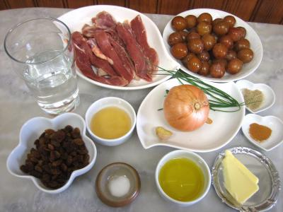 Ingrédients pour la recette : Aiguillettes de canard aux mirabelles