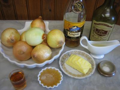 Ingrédients pour la recette : Confiture d'oignons au cognac