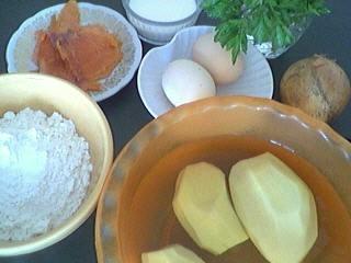 Ingrédients pour la recette : Beignets de saumon fumé