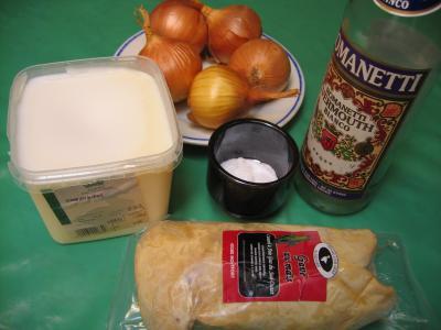Ingrédients pour la recette : Foie gras aux oignons confits