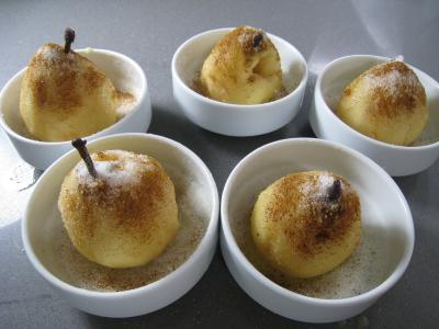 Poires au cidre et sa crème fouettée - 4.3