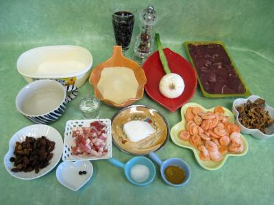 Ingrédients pour la recette : Civet de cerf et sa floraline