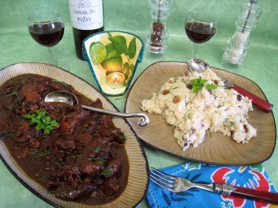 baie rose : Assiette de civet de cerf et sa floraline