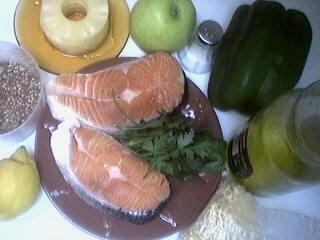 Ingrédients pour la recette : Brochettes de saumon à l'ananas