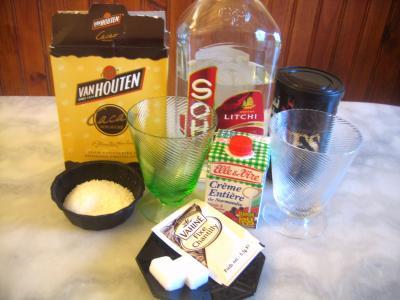 Ingrédients pour la recette : Café et noix de coco