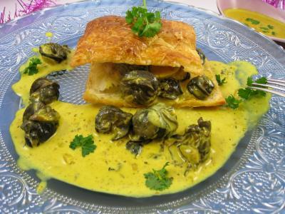 Feuillet d 39 escargots aux pices supertoinette la - Cuisiner les escargots ...