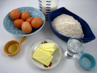 Ingrédients pour la recette : Pâte à crêpes