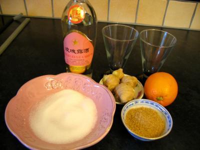 Ingrédients pour la recette : Cocktail au gingembre au parfum de Chine