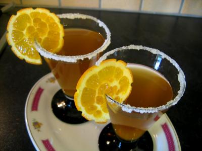 Image : Verres de cocktail au gingembre au parfum de chine