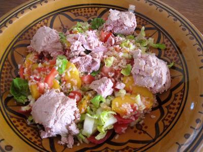 Salade de thon aux pêches - 7.3