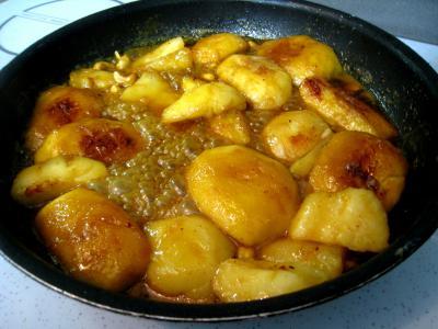 Recette Pommes et poires caramélisées