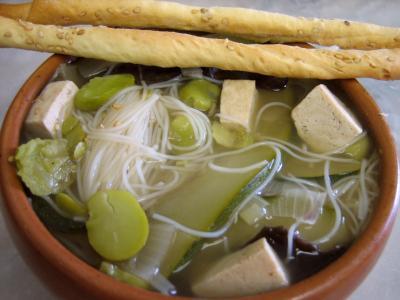 Photo : Soupe chinoise au tofu
